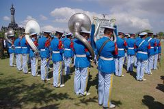 Military band playing Stock Image