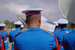 Military Band playing Stock Photography
