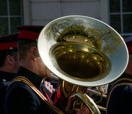 Military band practice Royalty Free Stock Image