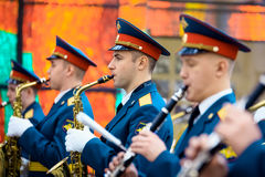 Military Band of the 154 Preobrazhensky Regiment at the Hall of Fame of the Museum of the Great Patriotic War on Poklonnaya Hill. Stock Photography