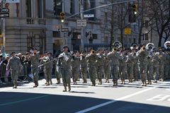 Military Band in Saint Patrick's Day Parade Stock Photos