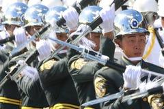 Military band spin gun Royalty Free Stock Photography
