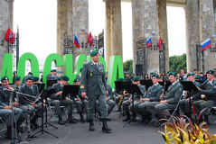 Military Band Tirol (Austria) performs in Moscow Royalty Free Stock Image