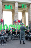 Military Band Tirol (Austria) performs in Moscow Stock Photography