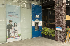 Military Bank in Vietnam stock photography