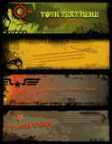 Military banners. Set of four military banners in different styles Royalty Free Stock Photos