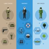 Military Banners Vertical Royalty Free Stock Photography