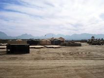 Military base in Afghanistan Royalty Free Stock Images