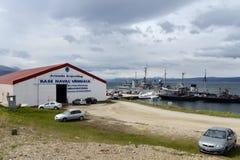 Military Base Navy Argentina in Ushuaia. Royalty Free Stock Photos