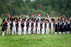 Military battle under Borodino Stock Photos