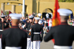 Military Bearing. Soldiers of the United States Marine Corps Silent Drill Team Royalty Free Stock Photography