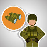 Military binoculars design , vector illustration Royalty Free Stock Image