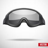 Military black goggles vector illustration Royalty Free Stock Images