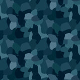 Military blue camouflage seamless pattern, For textile garment Stock Photography