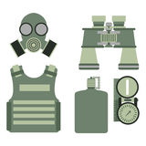 Military body armor symbols armor set forces design and american fighter ammunition navy camouflage sign vector Stock Photos