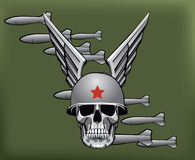 Military bombs and skull Stock Image
