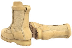 Military boots army gear Royalty Free Stock Photos