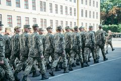 Military boots army walk the parade ground royalty free stock image