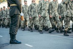 Military boots army walk the parade ground royalty free stock photography
