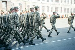 Military boots army walk the parade ground stock image