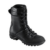 Military boots, black, on white background Royalty Free Stock Images