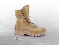 Military boots for desert Stock Photos
