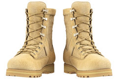 Military boots, front view Royalty Free Stock Photo