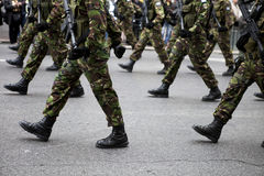 Military Boots. Greek army parades at a national holiday on Athens Stock Photo