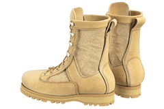 Military boots soldier gear Royalty Free Stock Photography