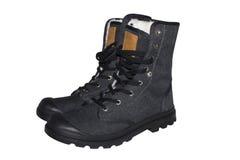 Military boots tactical. Tactical military boots isolated on white background royalty free stock image
