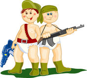 Military  boys Royalty Free Stock Images