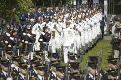 Military branches marching Royalty Free Stock Photo