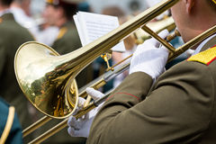 Military brass band Stock Images