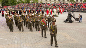 Military Brass Band from Bulgaria Royalty Free Stock Photos