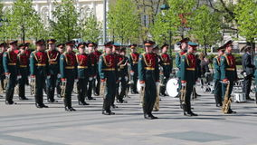 Military brass band Stock Image