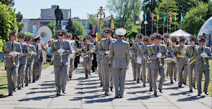 Military brass band. Victory Day, May 9. Victory Day, May 9 Military brass band Stock Photos