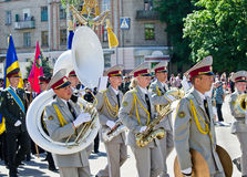 Military brass band. Victory Day, May 9. Victory Day, May 9 Military brass band Stock Image