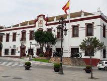 Military building, Ceuta, Spain. Military building in ceuta city center Stock Photos