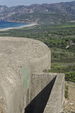 Military bunker along the coast Royalty Free Stock Images