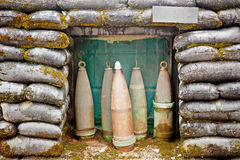 Military bunker with ammunition Stock Image
