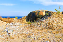 Military bunker on the beach Royalty Free Stock Images