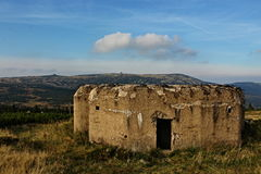 Military bunker in mountains. Military bunker at the Polish border that guard the borders royalty free stock image