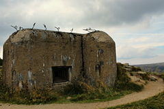 Military bunker. At the Polish border that guard the borders royalty free stock photography
