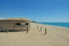 Military bunker of Santa Susanna Stock Photo