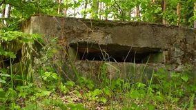 Military bunker. Shoot with slider stock video footage