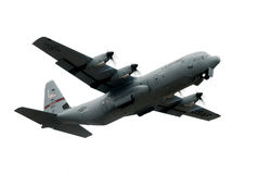 Military C-130 plane. A United States Air Force National Guard C-130, based out of Quonset (North Kingstown) Rhode Island takes off to perform at the Quonset Royalty Free Stock Photo