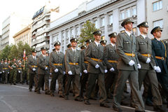 Military Cadets Royalty Free Stock Photos