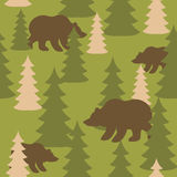Military camouflage background bears in woods. Wild Beasts and t Stock Photos
