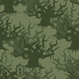 Military camouflage background of old trees. Protective seamless Stock Photos