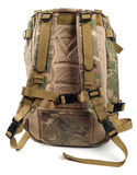 Military camouflage backpack Stock Images